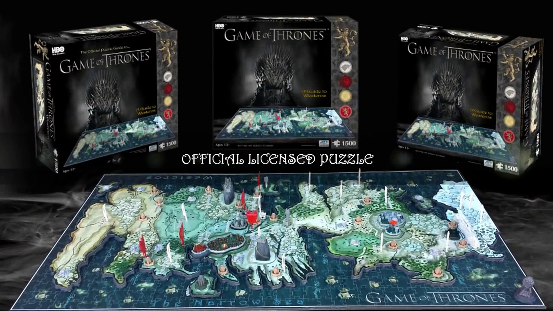 4D Game of Thrones Puzzle - Westeros 1000+ Jigsaw Puzzle Game Of Thrones D Map Westeros Puzzle on detailed map of westeros game of thrones, crown lands map game of thrones, google map game of thrones,