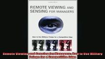 Free Full PDF Downlaod  Remote Viewing and Sensing for Managers How to Use Military Psiops for a Competitive Edge Full Ebook Online Free