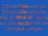 Christophe MAE Zenith de Limoges Concert du 27 février