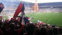 Festa in Gradinata Nord dopo Sampdoria -Genoa 0-3.