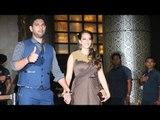 Yuvraj Singh With Wife Hazel Keech At Preity Zinta's Wedding Reception 2016