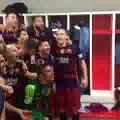 "FC Barcelona players sings ""Campeones, campeones, campeones!"" (14/05/2016)"
