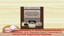 PDF  Abdiel Caban Appellant V Kazim Mohammed and Maria Mohammed US Supreme Court Transcript  EBook