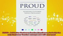 FREE PDF PROUD Achieving Customer Service Excellence