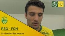 PSG-FCN : la réaction des joueurs