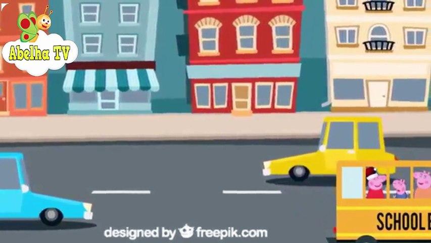Peppa Pig em Português -  A Roda do Autocarro -  canções para crianças