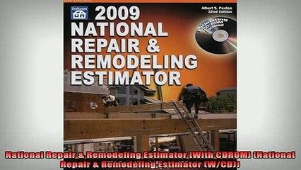 READ book National Repair Remodeling Estimator With CDROM