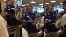 Il est fouillé à la douane, ignorant ce que ses potes ont caché dans son sac...