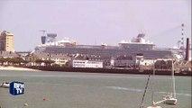 Le paquebot Harmony of the seas quitte le port de Saint-Nazaire