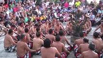 Kecak - chant du singe - à Uluwatu Bali Indonésie