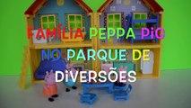 Pig George da Familia Peppa Pig no Parque de Diversões Completo em Portugues Disney Tototoykids