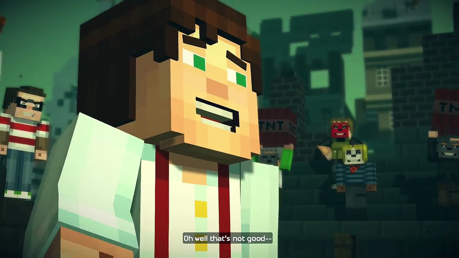 Minecraft: Story Mode - Wither Storm Invasion in Boom Town!