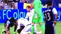 Vancouver Whitecaps Striker Masato Kudo Knocked Out By Goalkeeper Matt Lampson In Collision