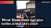 Watch Police hunt four men over Manchester United team bus attack-NewsTuber