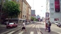 Tram line n.1, Bratislava, Slovakia, in cab view, Part.2