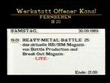 TranceMission  TV Heavy Metal Battel 25 von 1989