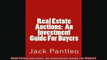 READ book  Real Estate Auctions An Investment Guide For Buyers Full EBook