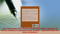 PDF  Hot Beverage Dry Mixes Gourmet Coffee Spoons  More Coffee Creamers Tea Cocoa  Special Read Online