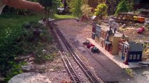 Family's LGB train set video #5 04/26/2014