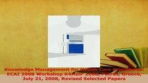 Read  Knowledge Management for Health Care Procedures ECAI 2008 Workshop K4HelP 2008 Patras Ebook Free