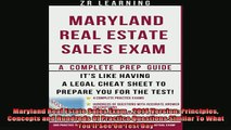 Downlaod Full PDF Free  Maryland Real Estate Sales Exam  2014 Version Principles Concepts and Hundreds Of Full Free