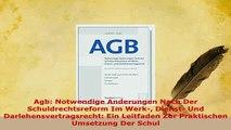 PDF  Agb Notwendige Anderungen Nach Der Schuldrechtsreform Im Werk Dienst Und Free Books