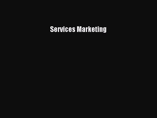 Read Services Marketing Ebook Free