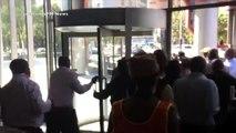 Meter taxi drivers assaulted an Uber partner driver.