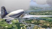 Flightgear-DC3-C47-vol vfr LFLL-LFLR