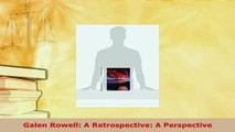 Download  Galen Rowell A Retrospective A Perspective Free Books