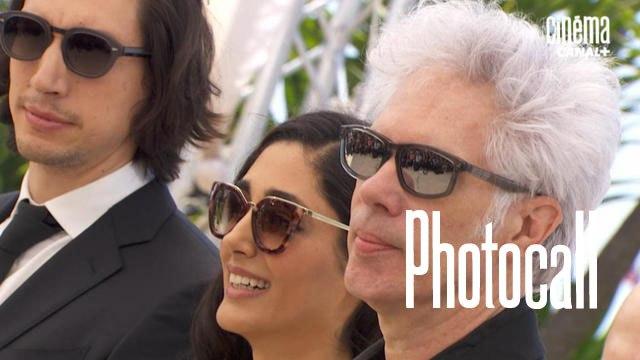 Jim Jarmusch, Adam Driver & Golshifteh Farahani (Paterson) - Photocall officiel - Cannes 2016 CANAL+