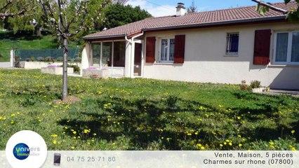 A vendre - Maison/villa - Charmes sur rhone (07800) - 5 pièces - 87m²