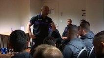 L'entraîneur toulousain Pascal Dupraz motive ses joueurs