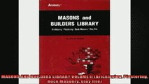 READ book  MASONS AND BUILDERS LIBRARY VOLUME II Bricklaying Plastering Rock Masonry Clay Tile Full Free