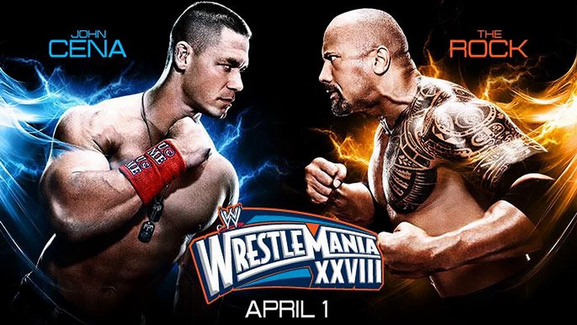 WWE: Wrestlemania 28 Match Card: The Rock vs. John Cena ...
