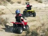 01-20-09 Ellie and Abbie riding quads