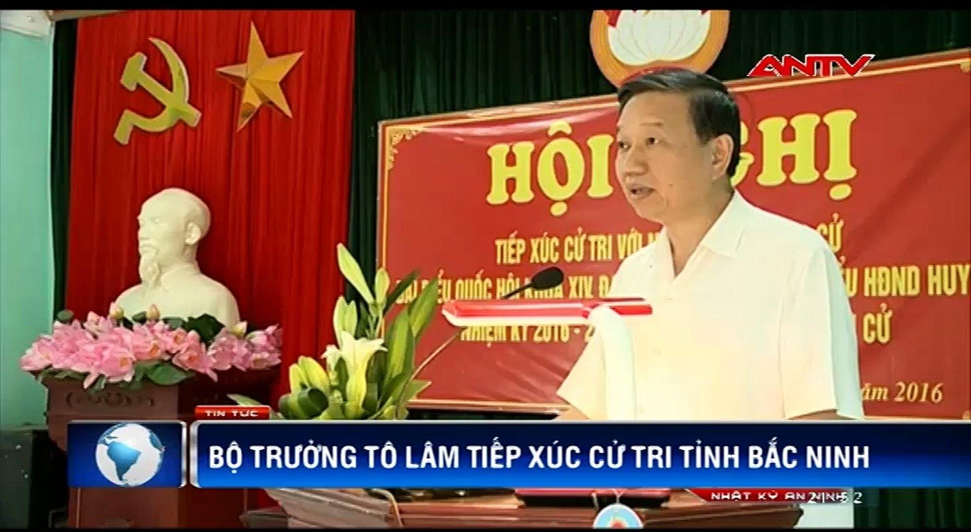 Bộ trưởng Tô Lâm vận động bầu cử tại Bắc Ninh