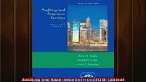 Read here Auditing and Assurance Services 12th Edition