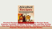 PDF  Alcohol Recipes 20 Tropical Drinks Recipe Book Popular Cocktail recipes Party Drinks and Download Online