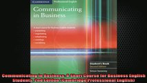 FREE EBOOK ONLINE  Communicating in Business A Short Course for Business English Students 2nd Edition Free Online