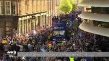 Marée humaine à Leicester pour fêter le titre de champion d'Angleterre