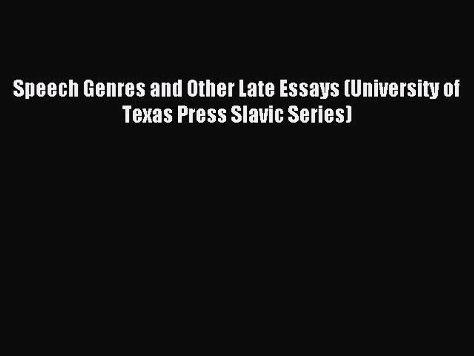 essay genre late other speech