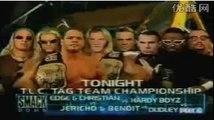 Edge and Christian vs Chris Jericho and Chris Benoit vs Hardy Boyz vs Dudley Boyz Four Way T.L.C.Ⅲ WWF Tag Team Championship WWF SmackDown 24/5/2001