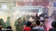 Des manifestants saccagent le bureau du parti socialiste à Rouen