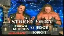 Edge vs Shawn Micheals Street Fight WWE Raw 22/1/2007
