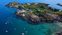 Les grandes marées des îles Chausey en drone