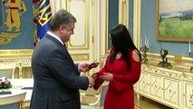Eurovision winner Jamala honoured by Ukrainian president