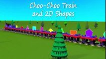 Shapes for kids kindergarten toddlers preschoolers. Shape train. Choo-Choo and 2D shapes. Cartoon | HD