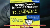 READ book  Broadband Internet Access For Dummies For Dummies Computers Full Free