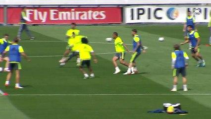 Treino do Real Madrid tem golaços e atividades focadas na troca de passes